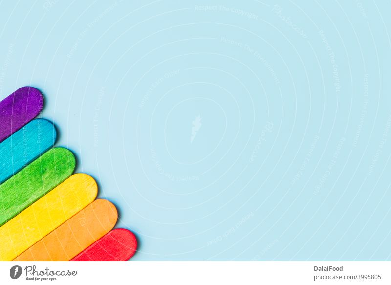 LgbT Background concept top view with copy spaces background background blue blue background celebration cold community cone corne cream decorative festive food