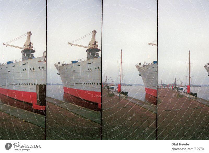 Watercraft Harbour Jetty Navigation Crane Bow Rostock