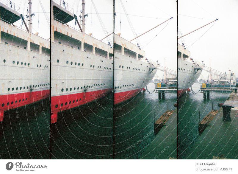 Georg Büchner Tail Watercraft Stern Crane Jetty Rostock Navigation Harbour Lomography