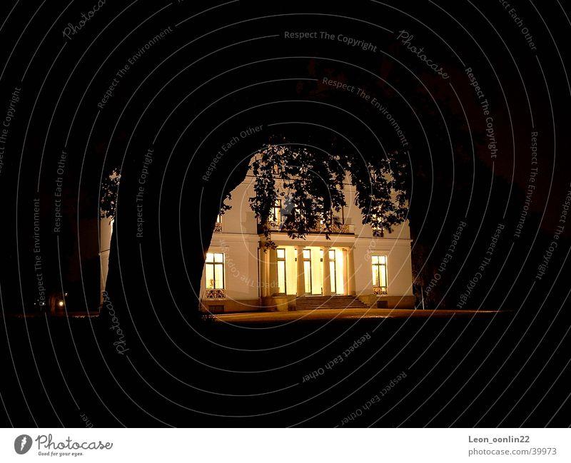 Jenisch House House (Residential Structure) Night Historic Jenish foreman Museum Hamburg Elbe
