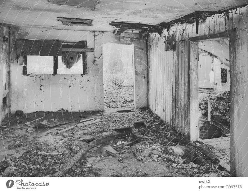 comfort zone Vacancy Ripe for demolition abrasive romanticism Destruction Decline Change Dirty Deserted Old Gloomy Trashy Patina crumble away Plaster door