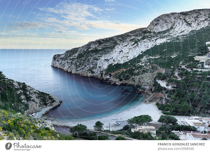 La Granadella beach in Jávea Alicante province. granadella alicante javea spain spanish landscape water beauty in nature scenics - nature sea sky tranquil scene