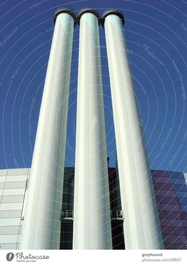 Sky Architecture Chimney Steam Electricity generating station Thermal power station Outlet air