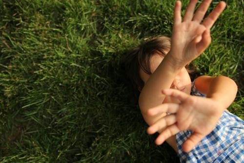 child holding her arms and palms against the camera Hand empathy Emotions challenge need soothing neglect coping with social distancing painful Situation mood