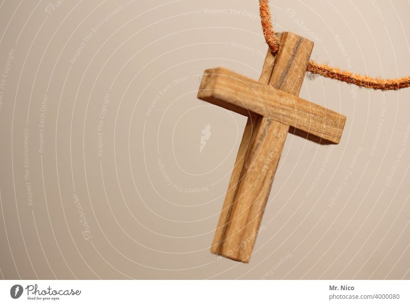 Crucifix from wood Wooden cross Chain Belief Christian cross Christianity Religion and faith Jesus Christ Symbols and metaphors Catholicism Holy God Prayer