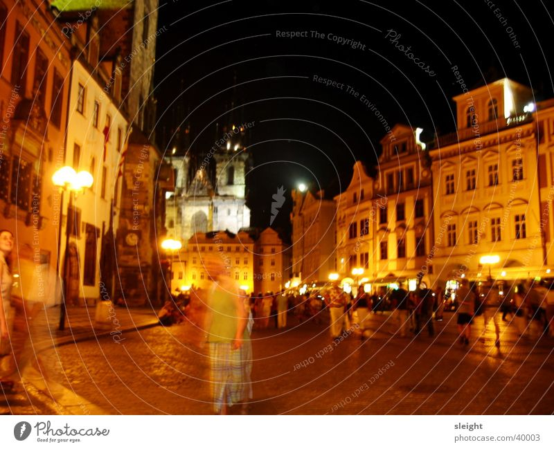 Prague nightlife Night life Light Long exposure Alley Club Architecture