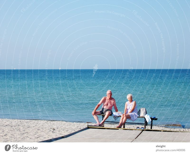 Human being Sun Beach Baltic Sea Married couple Denmark Ocean Couple