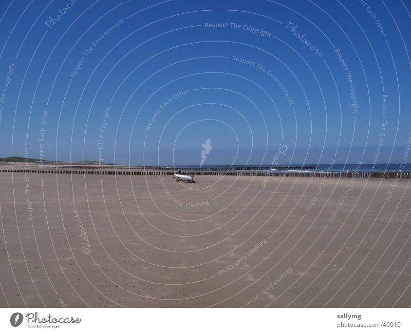 Sky Ocean Beach Loneliness Sand Watercraft North Sea Netherlands