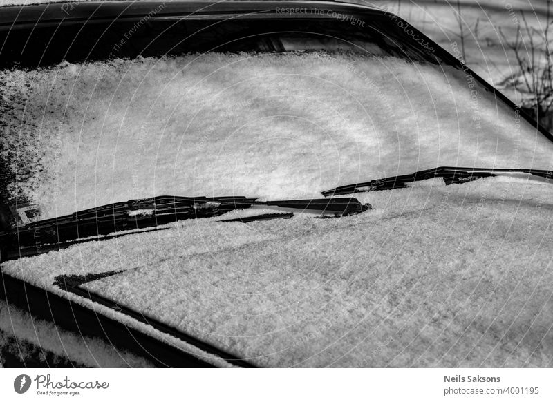 snow on a car windshield road white black winter railroad railway mirror transportation train abstract travel ice bike bicycle black and white track auto speed