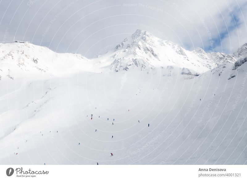 Beautiful view on the valley in ski resort in Swiss Alps verbier switzerland alps winter white swiss blue background snow forest mountain slope vacation alpine