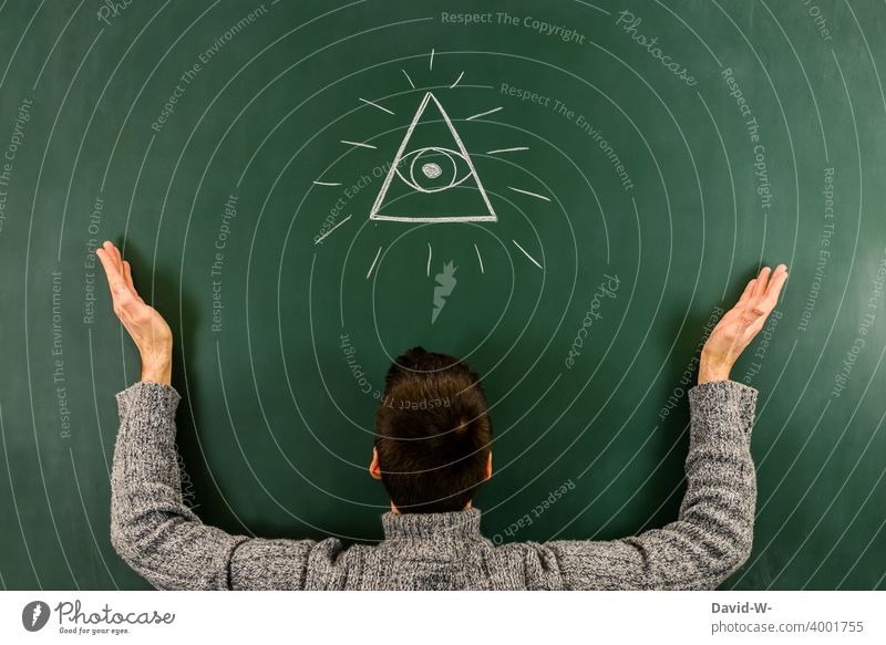 The Eye of Providence all-seeing eye Eyes providence symbol Belief God ubiquitously watches Conspiracy theory Mysterious Esotericism Watchfulness drawing Man