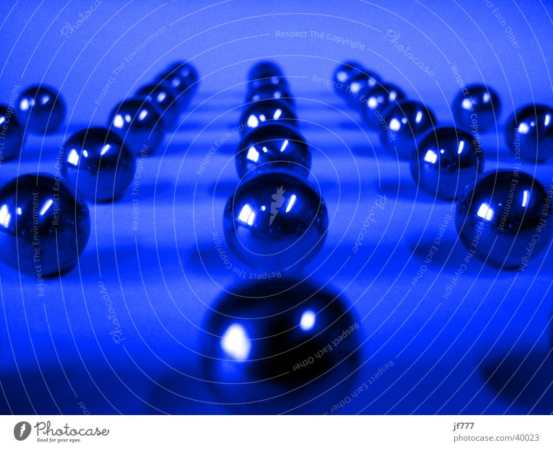 Blue Line Metal Arrangement Things Sphere Formation Marble Toys Vanishing point