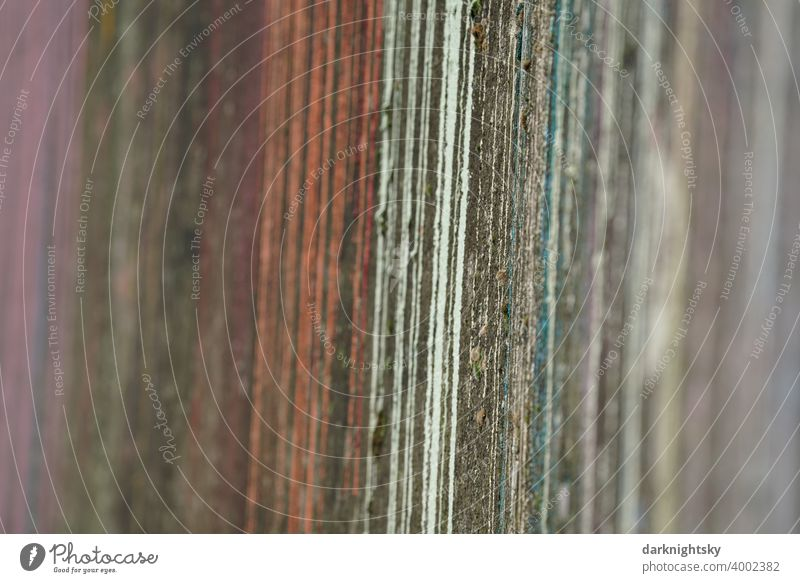 Color design from different shades on an old wall made of concrete Colour variegated Runner Design Wall (barrier) Old New lines obliquely red yellow white