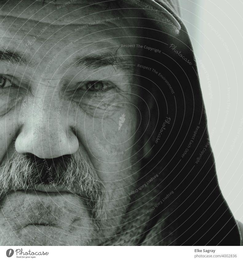 Partial View Of A Face - Gregor People Among Us... Man Adults Close-up Masculine Exterior shot Studio shot Facial hair Senior citizen Male senior Old portrait