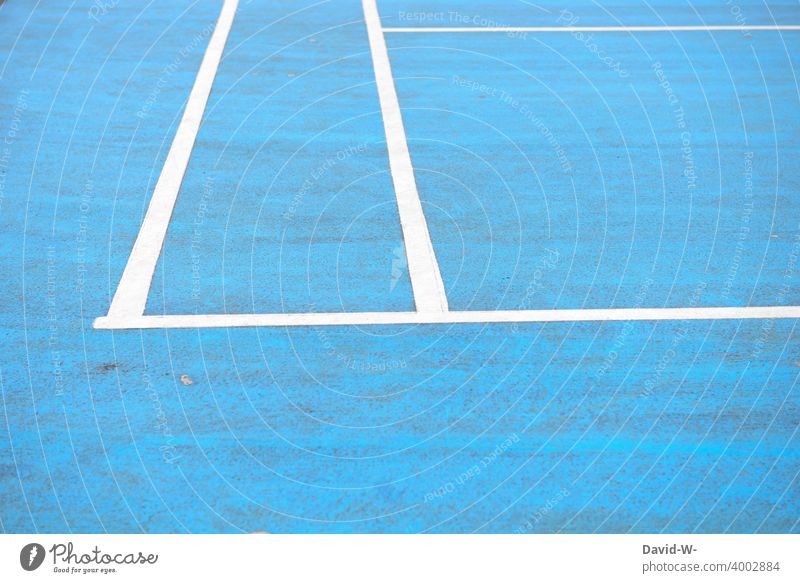 Line on a sports field lines Sporting grounds mark Marker line Blue Boundary fields Sports Sporting Complex Playing field Stripe Placeholder