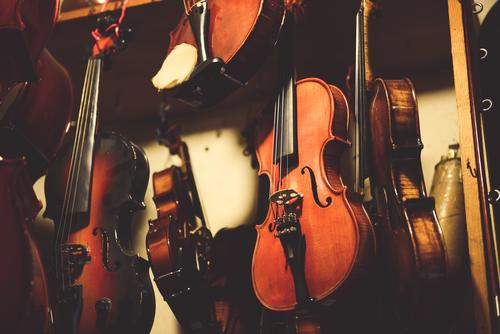 violins / musical instruments by an instrument maker Musical instrument Classical Craft (trade) violin maker Violin Culture String instrument Instrumen Trade