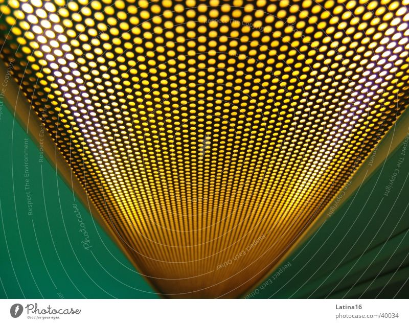Green Yellow Wall (building) Hollow Grating Photographic technology