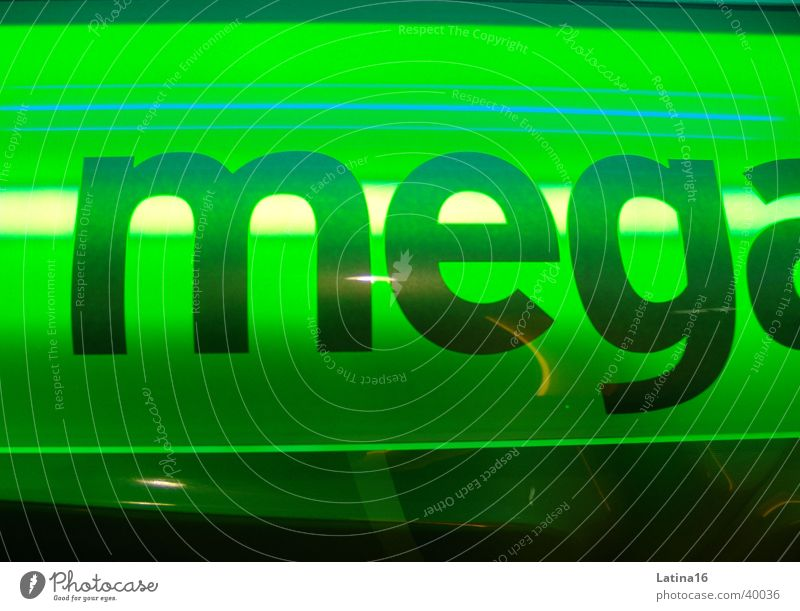 Green Characters Letters (alphabet) Photographic technology Tanning bed