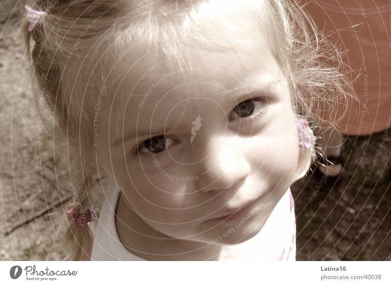 pia Child Girl Toddler Blonde Cute Black & white photo