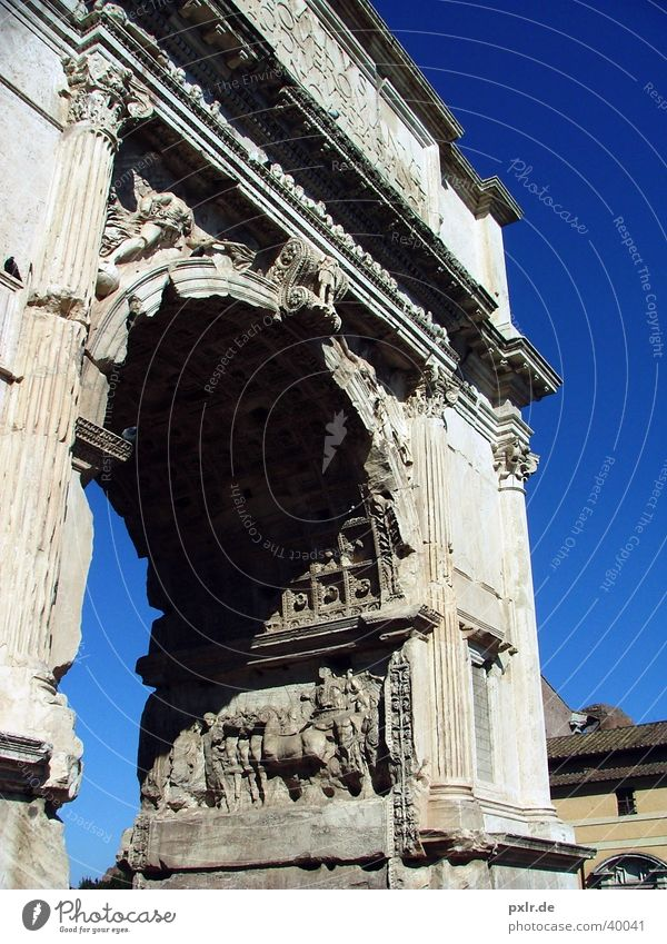 Sky Blue City Vacation & Travel Summer Architecture Stone Large Trip Tourism Esthetic Culture Italy Beautiful weather Gate Monument