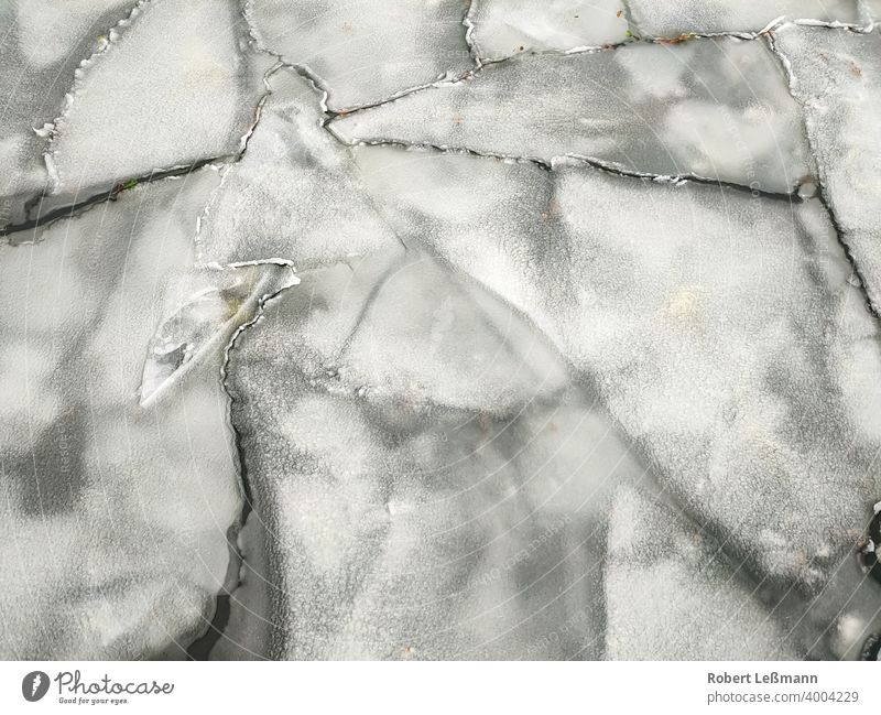 many ice floes on a lake Frozen Lake Ocean Frost Slice Ice Plaice quick-frozen ice crystals background icily Abstract Winter Snow Water Season Snowflake Cold