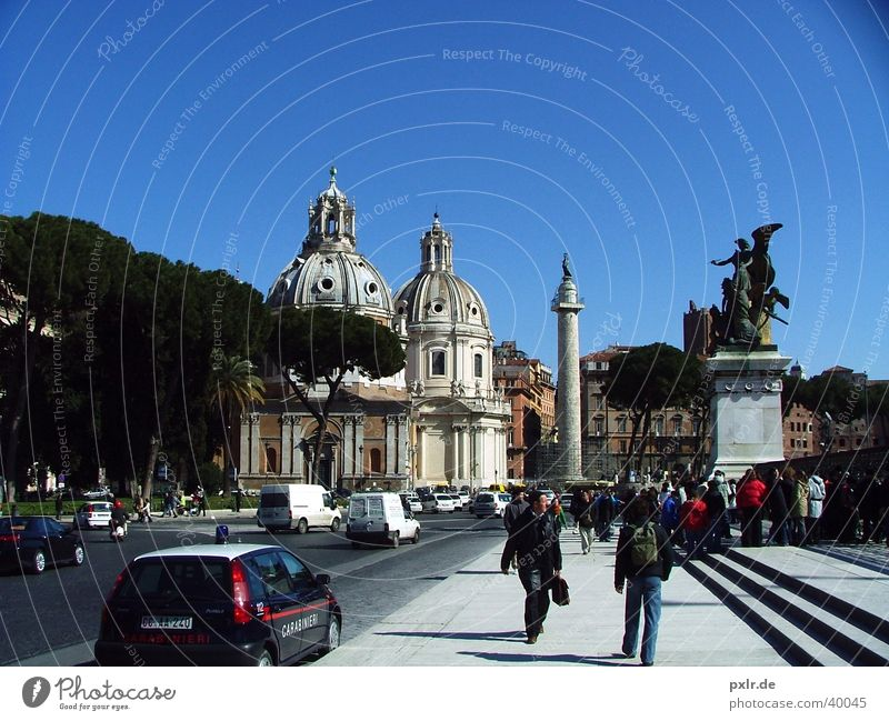 Foro Traiano (Rome, Italy) Vacation & Travel Tourism Summer Summer vacation Sun Human being Group Art Culture Town Old town Building Architecture Historic