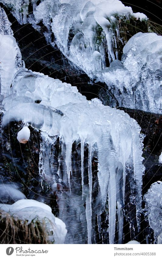 With ice, please. Ice Icicle Cold Winter Waterfall Frozen Frost Blue White Deserted