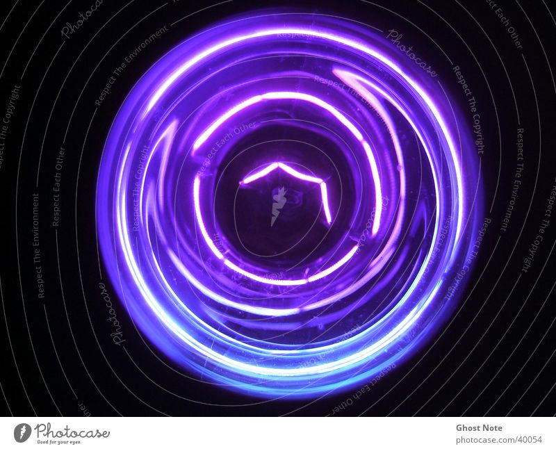 Black Style Violet Things Electric bulb Spiral Black light