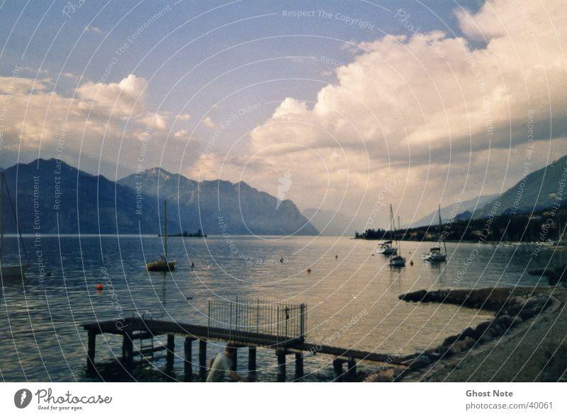 lago di garda Lake Garda Clouds Italy Beach Water Mountain