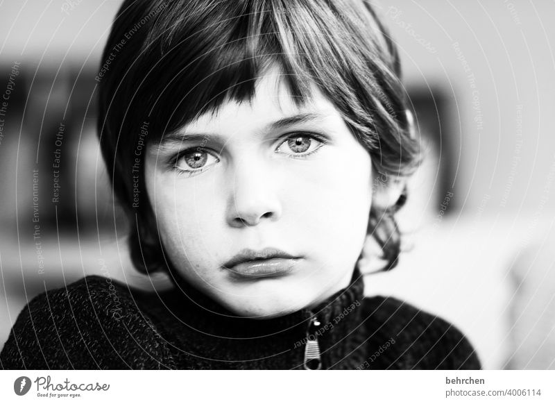 . Daydreamer lost in thought Sadness melancholy sad Dreamily melancholically Family & Relations Child Eyes Boy (child) Infancy Face Intensive Earnest