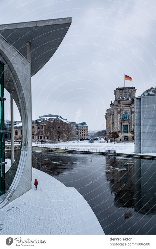 Marie-Elisabeth-Lüders-House with ice floes III Reichstag tranquillity lockdown Culture Art Downtown Berlin Congress building Manmade structures Building