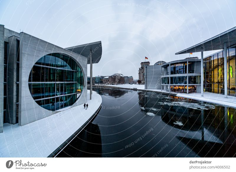 Marie-Elisabeth-Lüders-House with ice floes II Reichstag tranquillity lockdown Culture Art Downtown Berlin Congress building Manmade structures Building