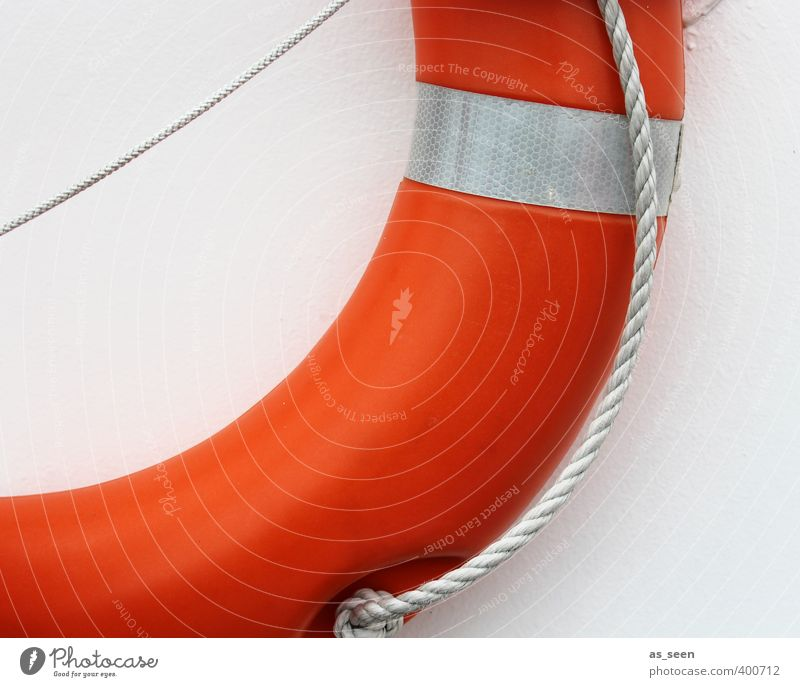 White Ocean Red Swimming & Bathing Orange Rope Safety Help Hope Round Protection Plastic Trust Navigation Sailing Rescue
