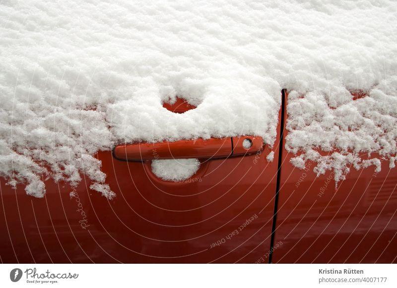 snowed in car door Car door door handle Door lock Lock Door handle snowy iced frozen Frozen Snow Frost Ice Cold chill Winter Weather Season