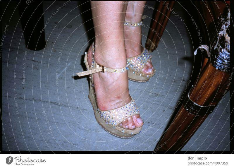 blingclackblingclack Analog Lady's slipper Colour photo Interior shot Woman feet bling bling