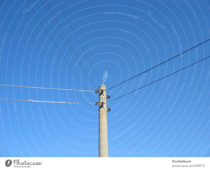 Sky Industry Energy industry Electricity Electricity pylon Transmission lines