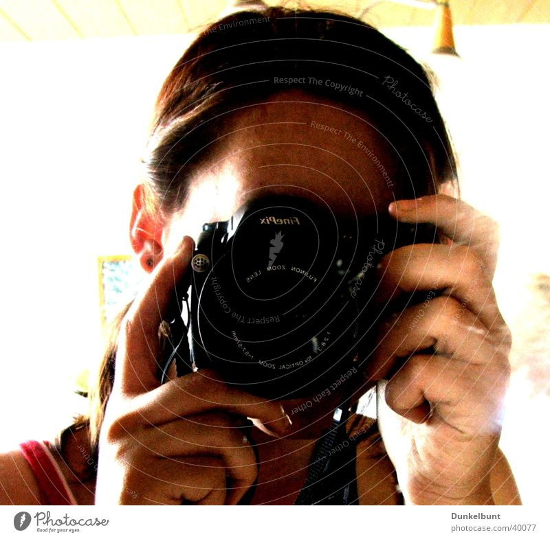 Happy Leisure and hobbies Camera Mirror Digital photography