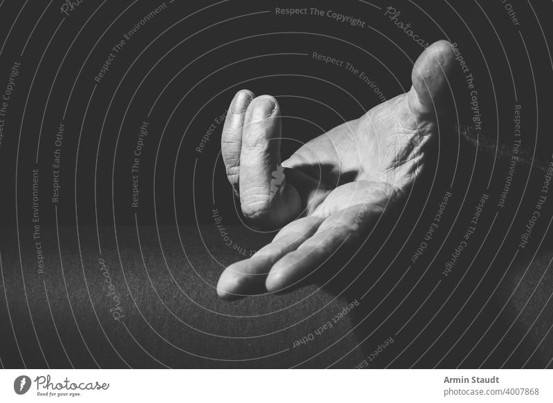 royal gesture of a hand that grants something adult black black and white bright bw calm classic closeup contrast dark expression finger gift granting human