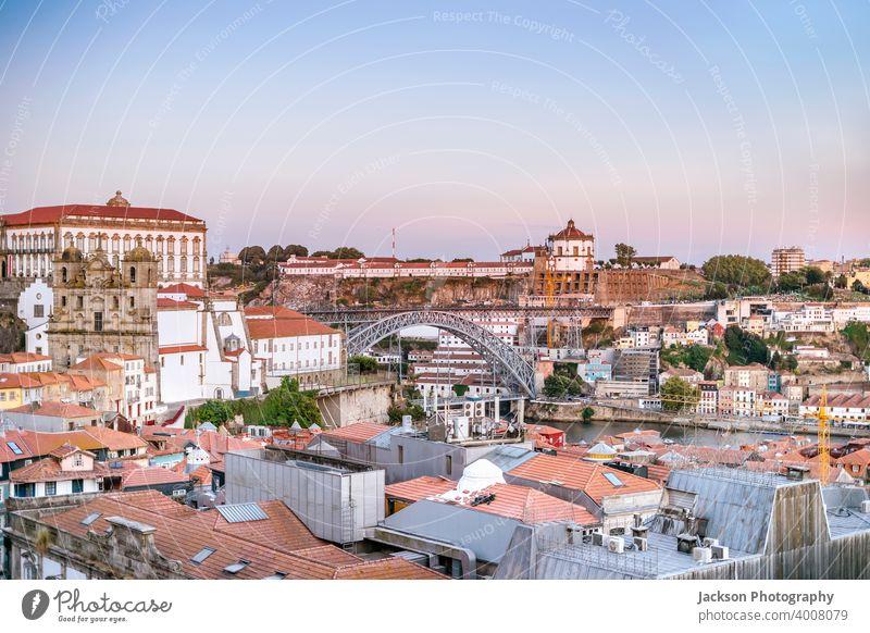 Cityscape of beautiful Porto and Vila Nova de Gaia, Portugal porto architecture city portugal vila nova de gaia bridge building buildings center cityscape day