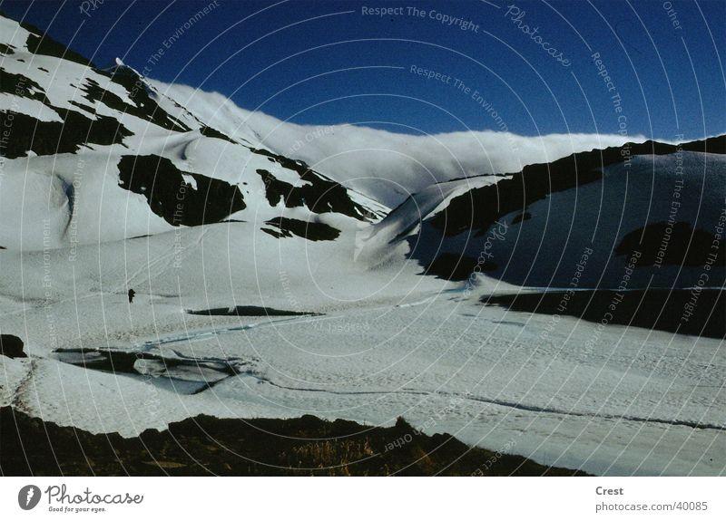 Calm Loneliness Cold Snow Mountain Glacier