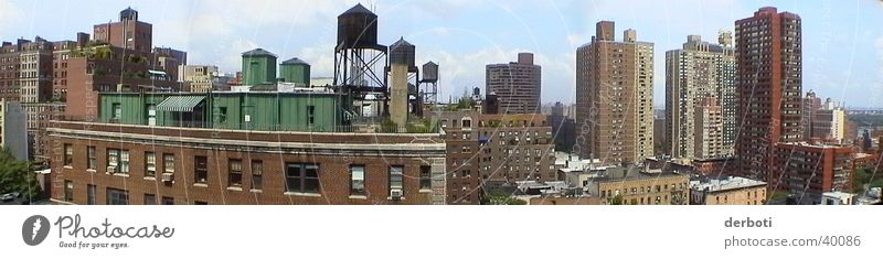 House (Residential Structure) Large High-rise New York City Manhattan Panorama (Format) North America Upper East Side district