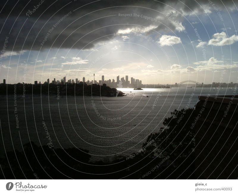 the downfall Sydney Clouds Dark Bring in Town Distress Harbour Bridge Education Fear Panic Vantage point Rain Skyline Sunset