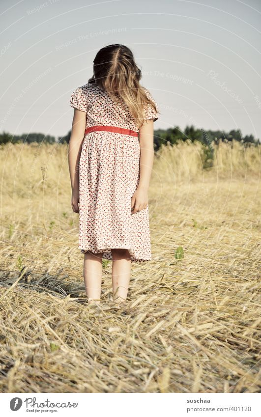 Human being Child Sky Nature Youth (Young adults) Summer Hand Girl Landscape Young woman Environment Feminine Hair and hairstyles Head Legs Body