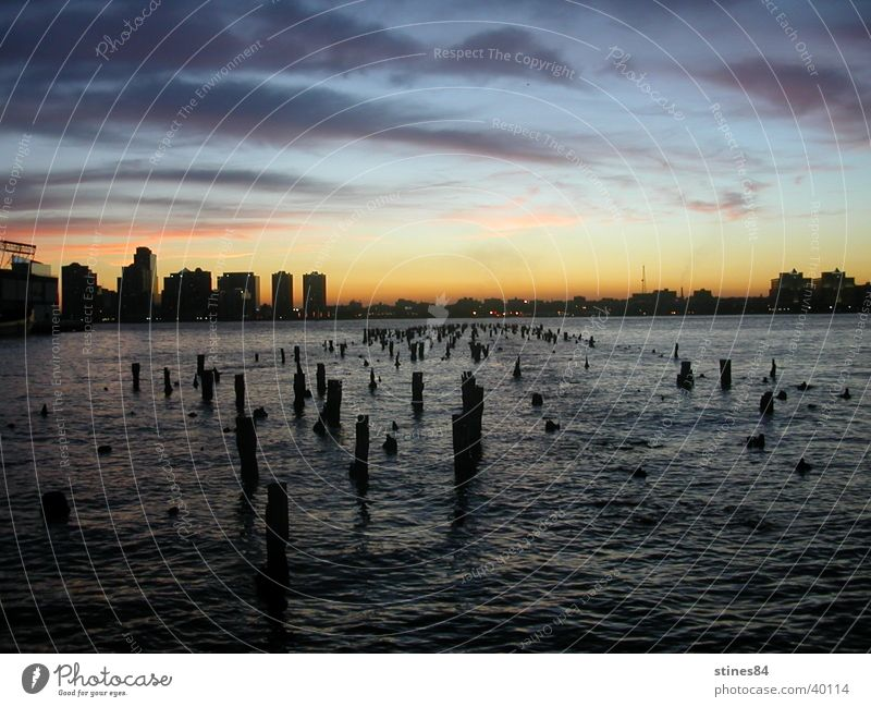 Still Water New York City Sunset Night Ocean Black Vancouver September 11th Pole Blue USA