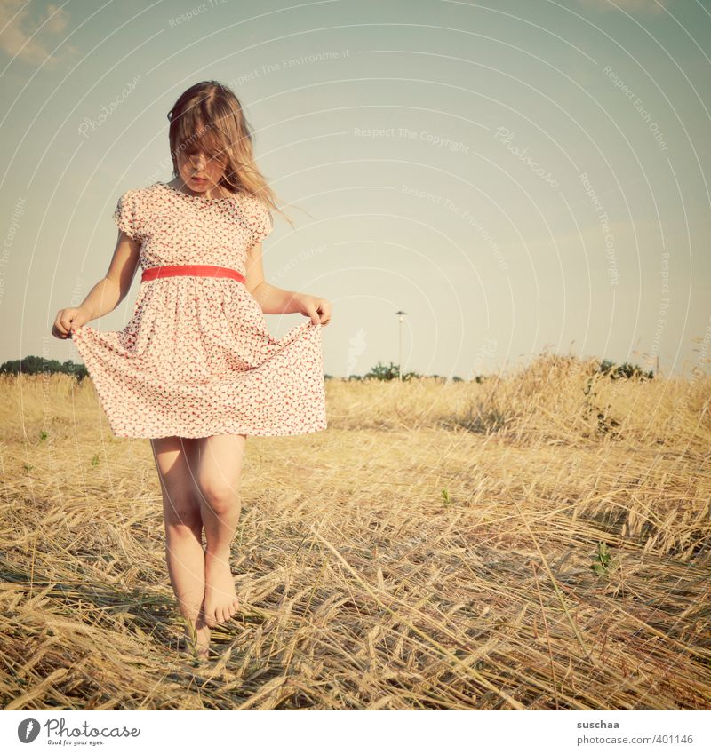 Human being Child Sky Nature Beautiful Summer Hand Landscape Girl Face Environment Warmth Feminine Hair and hairstyles Head Legs