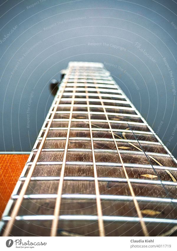 Guitar Ibanez fingerboard/guitar neck detail view Music unplugged Musical instrument Guitar position strings String instrument recreational activities free time