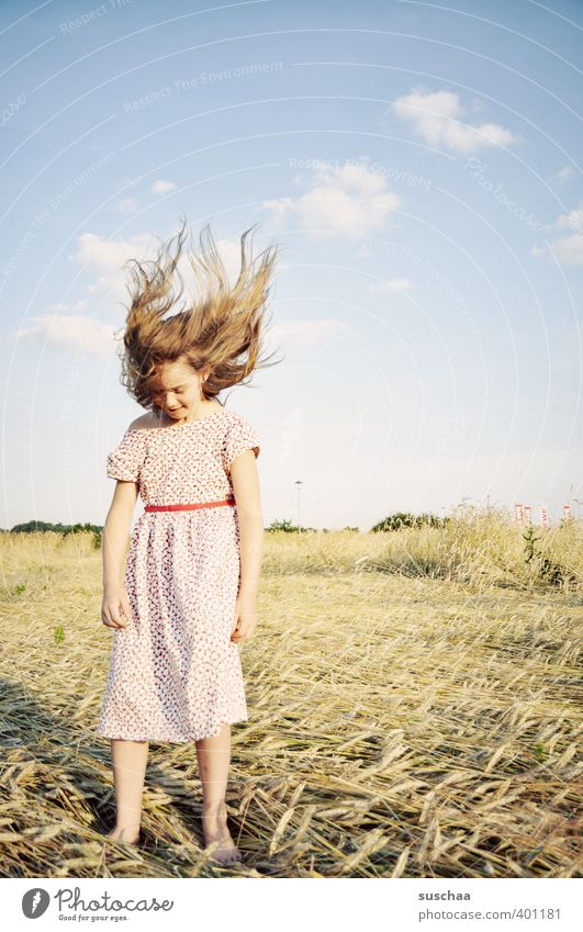 Hairy born to be wild. Child Girl Youth (Young adults) Young woman Headstrong Infancy Body Hair and hairstyles Environment Nature Landscape Sky Horizon Summer