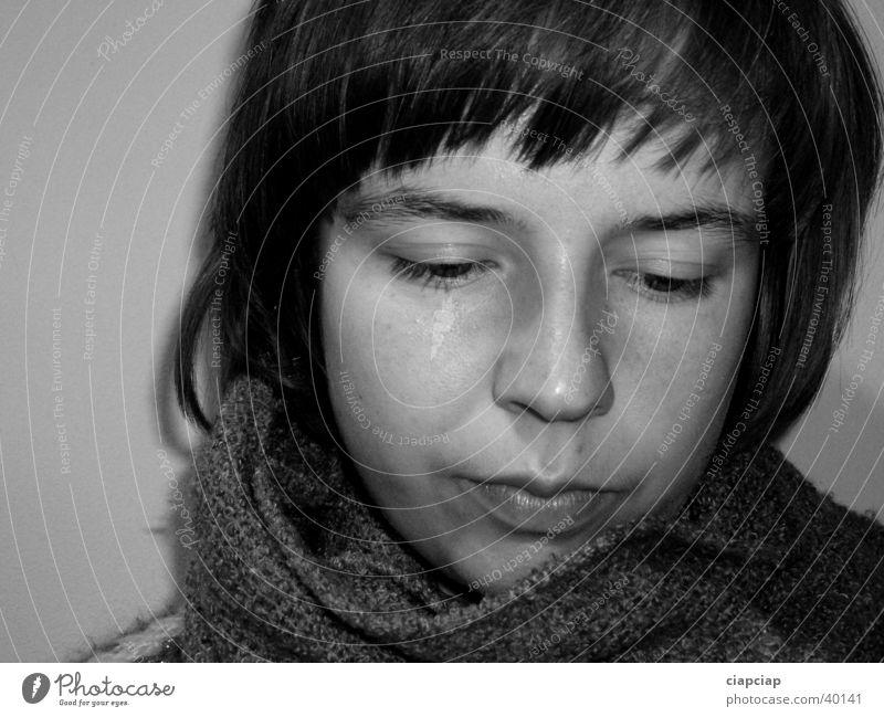 the girl Girl Face Scarf Woman