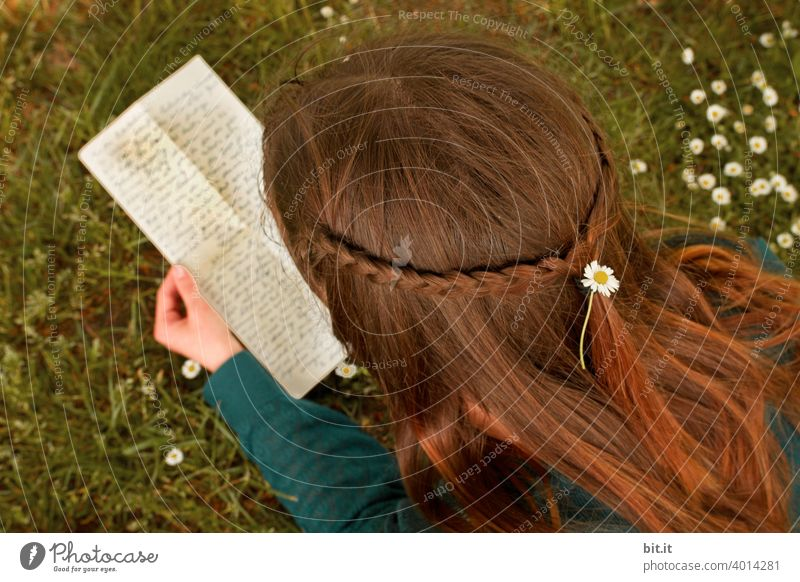 Message from Middle-earth with goose-steps.... Letter (Mail) Letters Word Old Text Communication Paper Reading Young woman teenager Youth (Young adults) Girl