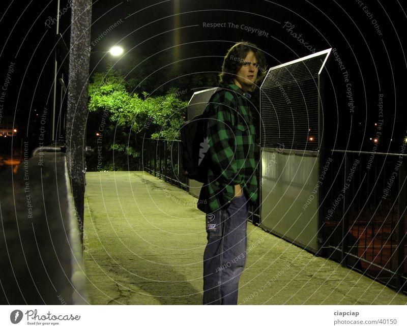 figure Night Pedestrian crossing Man Human being